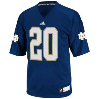 Notre Dame Fighting Irish Football Jersey adidas Navy #20 Replica