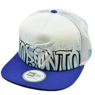 MLB Mesh Trucker Snapback Hat Cap Flat Brim Toronto Blue Jays
