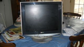 sony 20 in flat screen computer monitor with 2 sony speakers