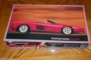 Fujimi Ferrari Testarossa Spyder 1 16 Model Kit