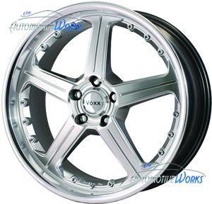 19x8.5 Voxx Ferraro 5x114.3 5x4.5 +40mm Hyper Silver Wheels Rims Inch