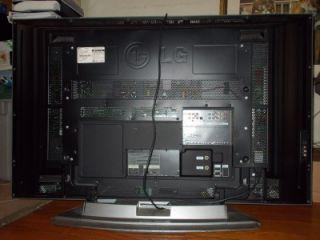 Huge LG 42 Flat Screen Plasma TV Broken as Is for Parts