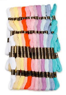 36 Skeins COTTON Embroidery Floss Craft Thread   PASTEL COLORS