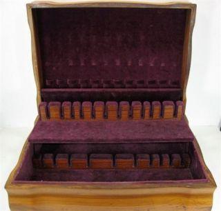 International Silver Wood Silverware Flatware Chest Storage Box Case