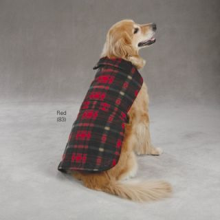 Casual Canine Plaid Red Dog Fleece Pet Puppy Sweatshirt Coat Jacket