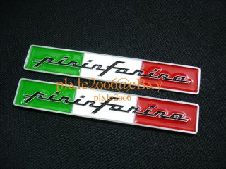 Pininfarina Metal Emblem Fiat Spider Alfa Romeo Ferrari