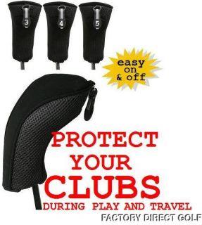 New Thick Neoprene Black Hybrid Headcovers 2 3 4 5 6 Golf Club