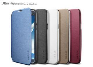 SPIGEN SGP Samsung Galaxy Note 2 Case Ultra Flip Metallic Series