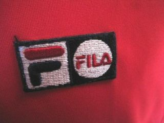 NEW Red FILA Tennis workout running UV Protection Athletic SHIRT XXL