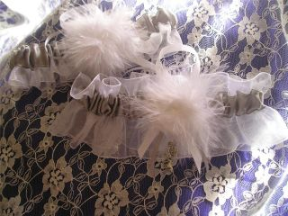 2pc Cinderella Fairytale Satin Organza Wedding Prom Garters Many