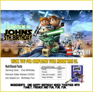Lego Star Wars Clone Wars Birthday Party Invitations
