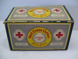 Johnson Red Cross Roll Cotton Box Medical Nursing Supply First Aid