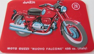 Moto Guzzi Nuovo Falcone Vintage Dunkin Motorcycle Card