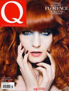 UK Q MAGAZINE MARCH 2012 Florence Welch Trent Reznor Lana Del Rey Ltd