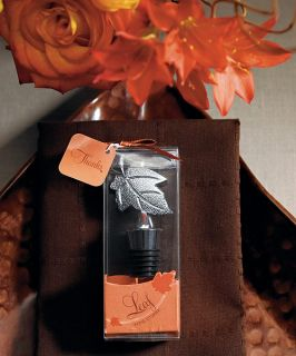 Wine Bottle Stopper Favor in Gift Packaging Fall Autumn Wedding Party