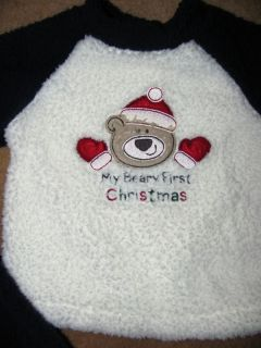 First Moments outfit My Beary First Christmas Very Bear Footed