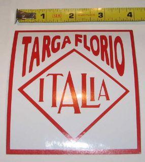 Italian Targa Florio Italia Car Race Sticker Decal New