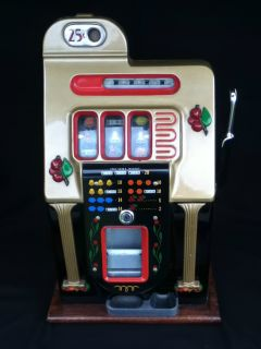 1946 Mills 25 Cent Golden Falls Slot Machine Antique