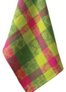 Whimsey Jacquard Pink Lime Green Christmas Holiday Kitchen Dish Towel