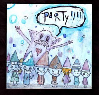 Gus Fink Outsider Original Lowbrow Pop Art Modern Punk Party Monster