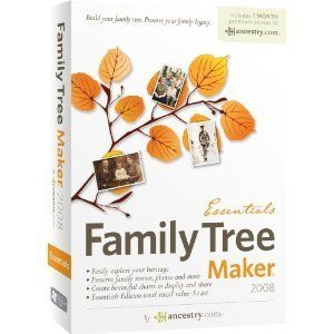 Family Tree Maker 2008 Essentials Includes 1 Month Free Ancestry Com
