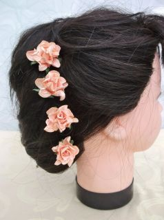 Gardenia Flower Hair Pins Wedding Bridesmaid Prom Races Accessories