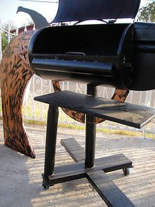 CUSTOM OUTDOOR GUN BBQ GRILL FIRE PIT HANDCRAFT AND DETACHABLE TABLE