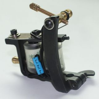 Handmade Tattoo Machine Gun Supply Black Bulldog Frame Shader One Year