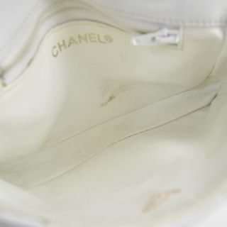 Chanel Vintage Lambskin Fanny Pack Waist Belt Bag White
