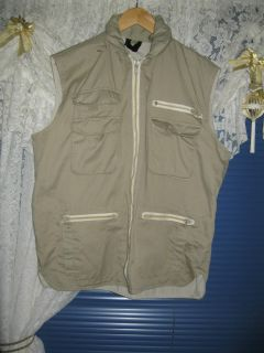 The Trade Fishing Hunting Vest Mens Womens L Zip Front Multi Pocket M