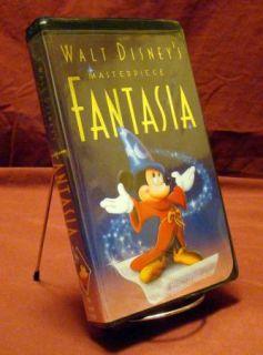 Walt Disneys Masterpiece ~ FANTASIA (VHS) Black Clamshell Case (VHSAH