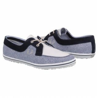 Mens Fred Perry Drury Chambray Blue/Drizzle/Cement