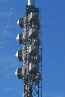 10 Bay High Power FM Broadcast Broadband Antenna w Radomes