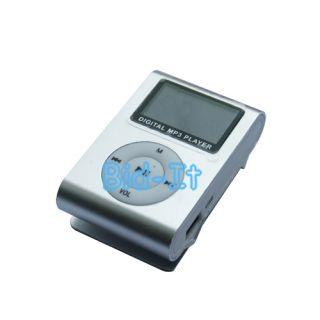 Mini LCD Screen Clip  Mp4 Player Fm Radio Record Support 128MB 32GB