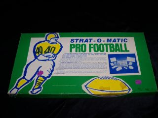 1981 STRAT O MATIC PRO FOOTBALL Board Game Pro NFL Complete Unused