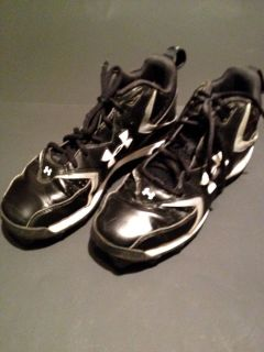 Gear Hammer Boys Black Football Baseball Cleats Shoes Sz 7 5