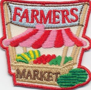 Girl Boy Cub Farmers Market Stand Patches Crests Badges Scouts Guide
