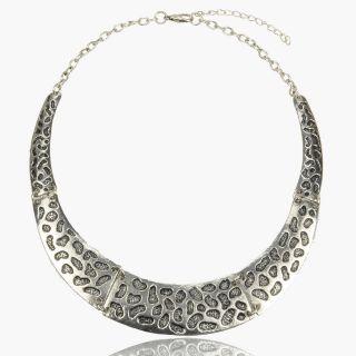 Tibet Silver Footprint Shape Retro Huge Vintage Style Pendant Necklace