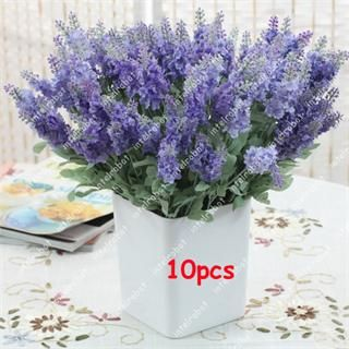 Lifelike Silk Flowers Violet Arrangement Home Garden Decor