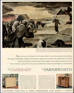 breinin artwork in 1947 capehart farnsworth radio ad
