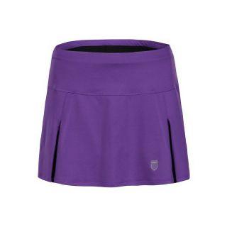 Accessories K Swiss Womens Front Pleat Skirt Purple/Black