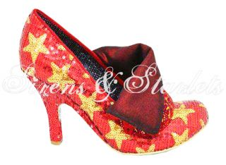 Irregular Choice Flick Flack Red Sequin Star Shoes