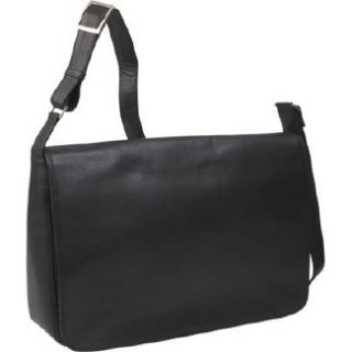 Handbags Derek Alexander Leather Full Flap East West Handbag Black