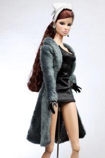 MF1016 Blue Fashion Long Coat for Barbie Silkstone Fr T
