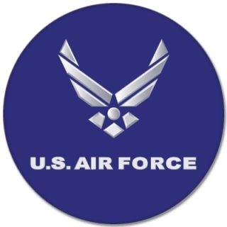 US Air Force USAF Car Bumper Sticker Decal 5 x 5