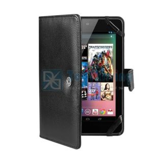 Folio PU Leather Case Cover with Stand for Google Nexus 7 Tablet