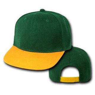 Flat Bill Snap Back Baseball Cap Caps Hat Hats 50 Colors