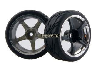 4pcs RC Flat Run Tires Tyre Wheel Rim Fit HSP HPI 1 10 on Road Car