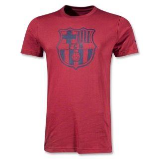 FC BARCELONA BASIC CORE T SHIRT   FC BARCELONA LOGO SHIRT   RED   SIZE