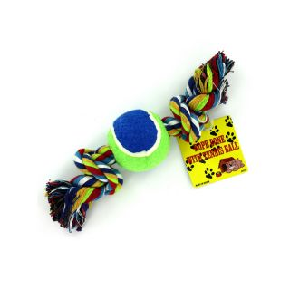 New Wholesale Case Lot 72 Dog Puppy Tennis Ball Rope Toys